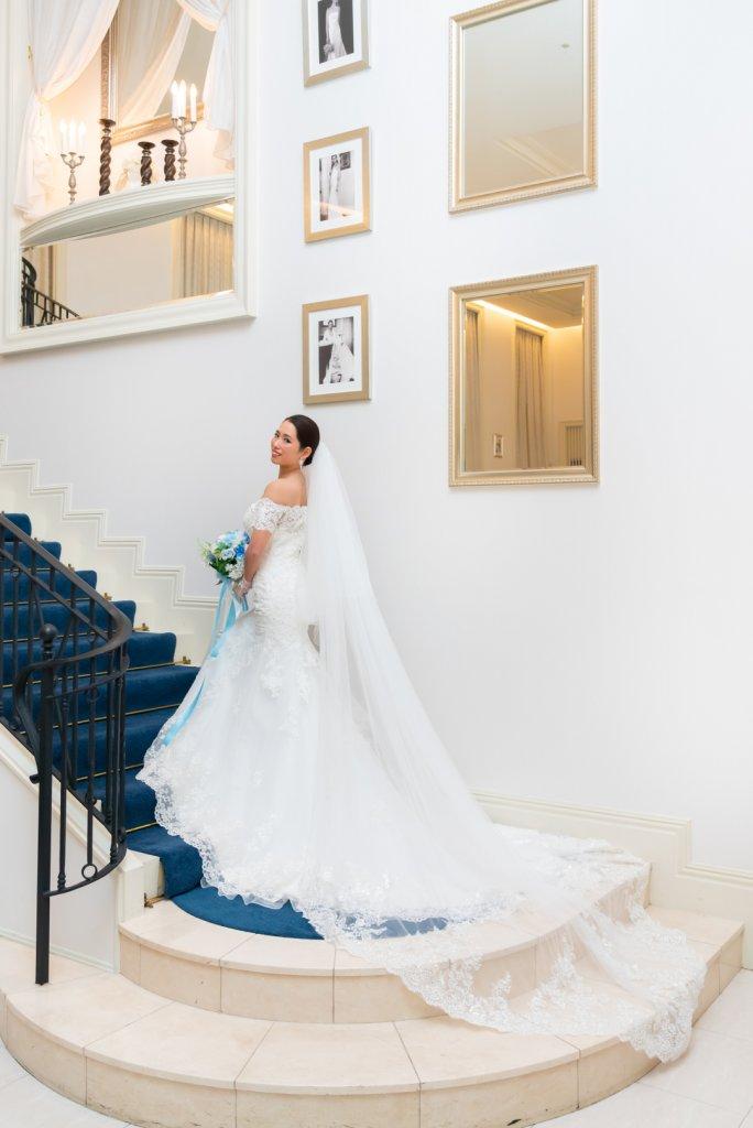アクアガーデンテラス 結婚式 ウェディングドレス マーメイド 袖付き