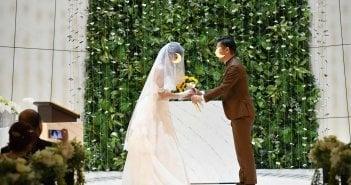 アルモニーソルーナ表参道 結婚式 ウェディングドレス 取り外し式トレーン