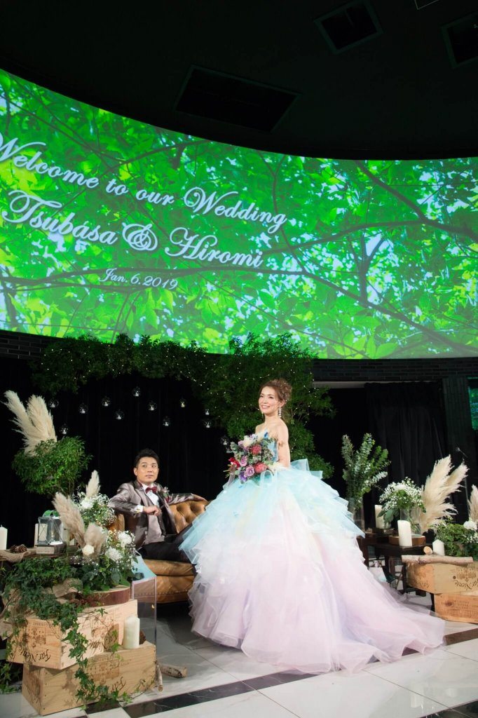 恵比寿duodomo 結婚式 カラードレス お花いっぱいドレス