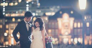 ウェディングドレス 前撮り クラシカル 東京駅