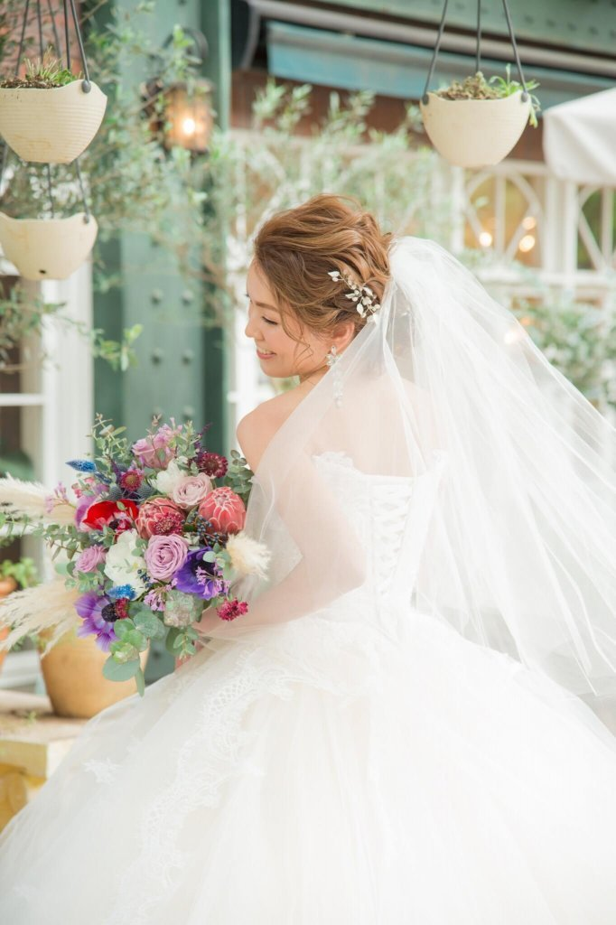 恵比寿duodomo 結婚式 ウェディングドレス ブーケ
