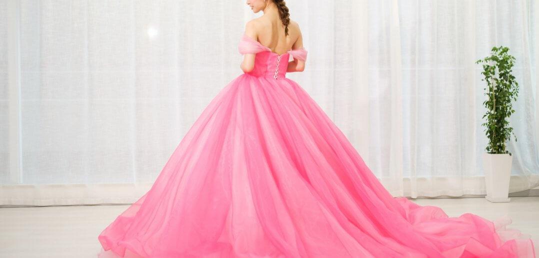 カラードレス ディズニープリンセス 濃いピンク