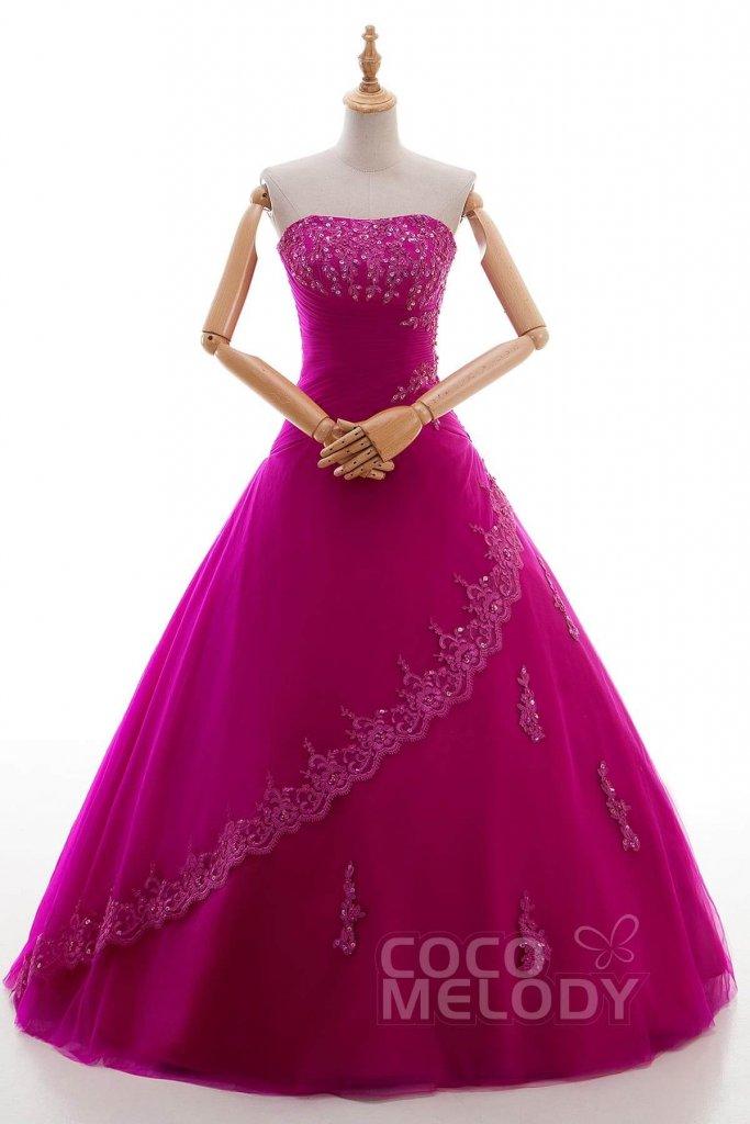 フクシアピンク カラードレス