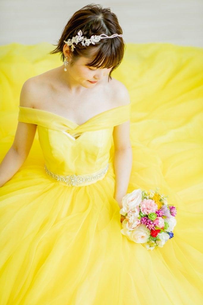 『美女と野獣』 (ベル) カラードレス 黄色ドレス