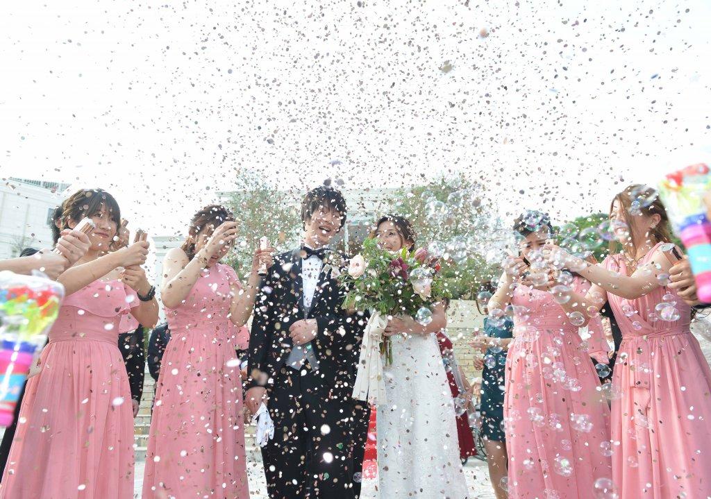 ベイサイド迎賓館松山 結婚式 フラワーシャワー ブライズメイド