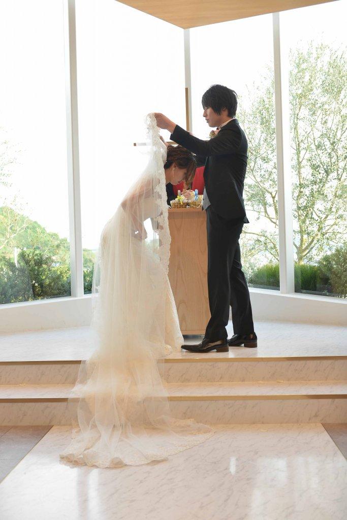 ベイサイド迎賓館松山 結婚式 インポートドレス チャペル式