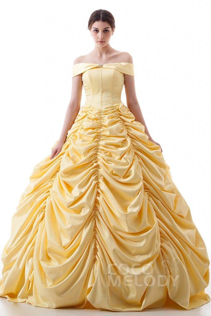 カラードレス 美女と野獣 ベル 黄色ドレス