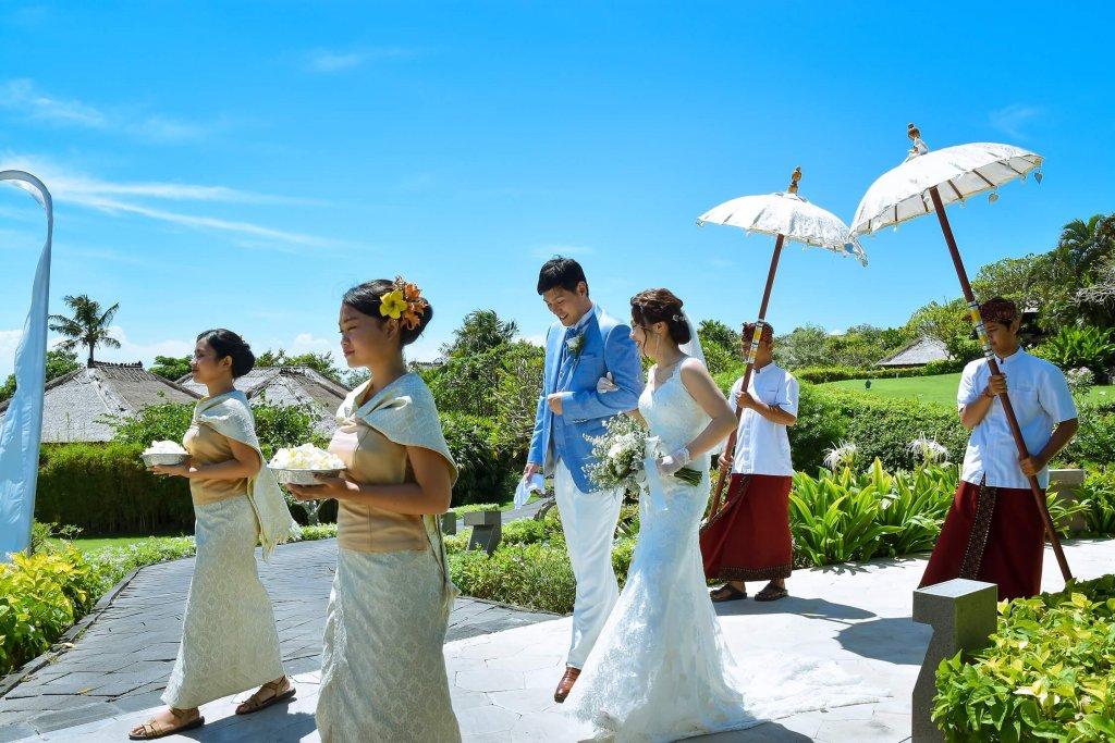 バリ島挙式 アヤナリゾート アスティナチャペル ウェディングドレス ブーケ