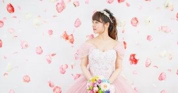 カラードレス 髪型 花嫁 結婚式