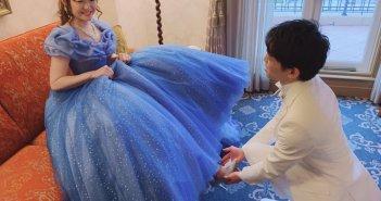浦安市 結婚式 カラードレス シンデレラドレス