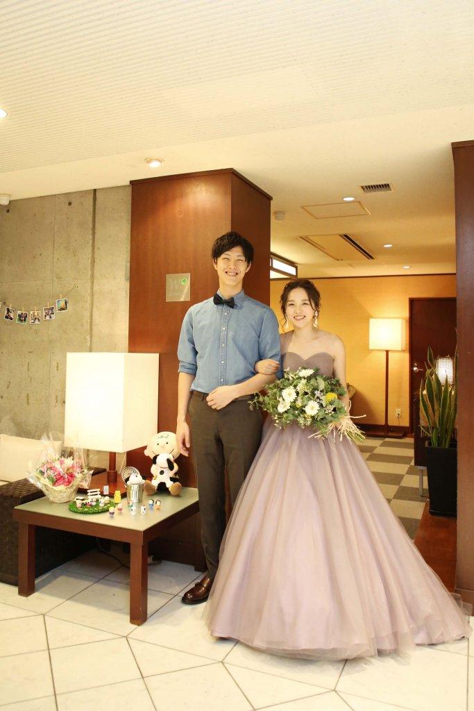 岩崎台倶楽部グラスグラス 結婚式 カラードレス