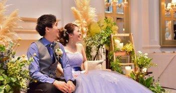 ヒルサイドクラブ迎賓館八王子 結婚式 カラードレス ブルー