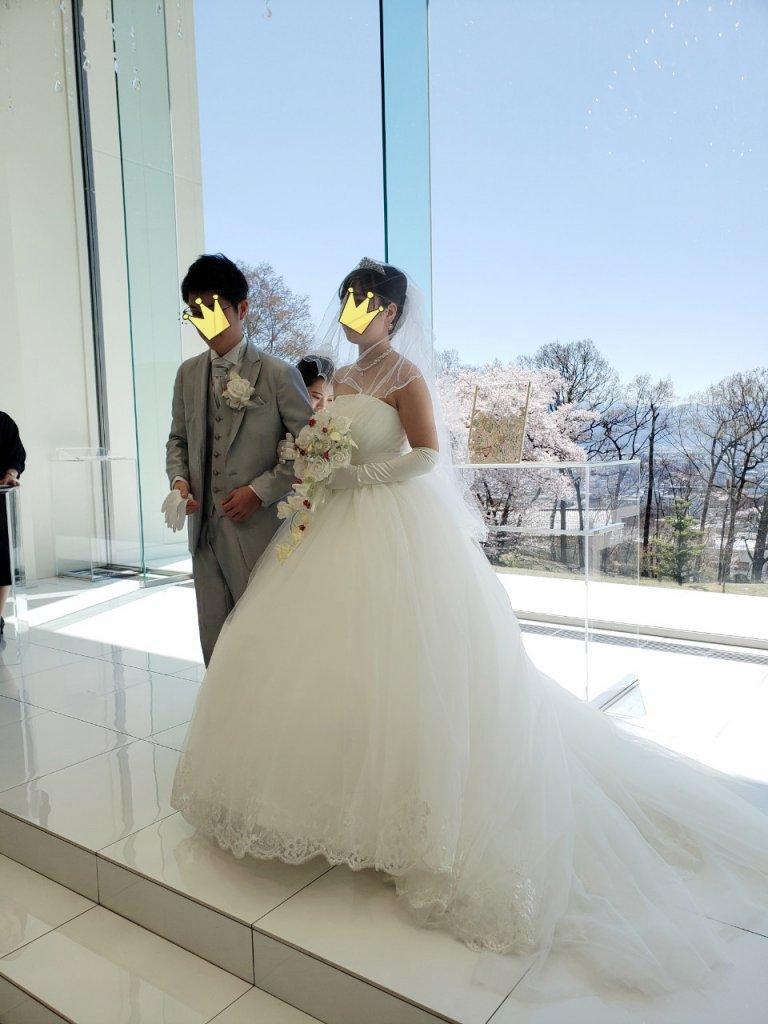 アマンダンスカイ 結婚式 チャペル式 ウェディングドレス