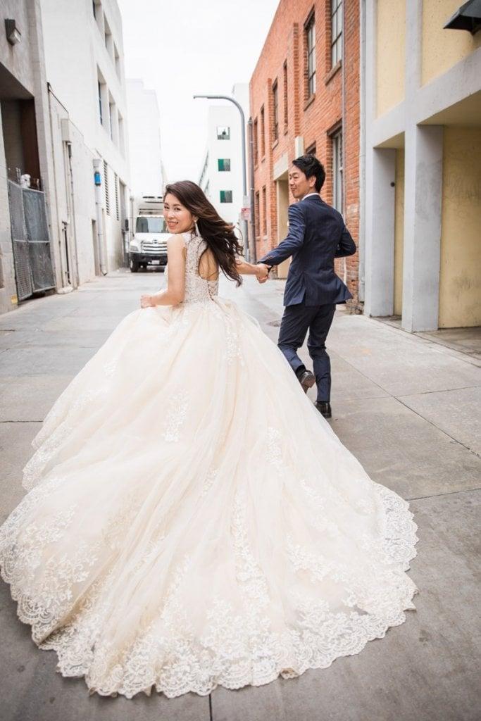 ロサンゼルス 前撮り 結婚式 ウェディングドレス おしゃれ