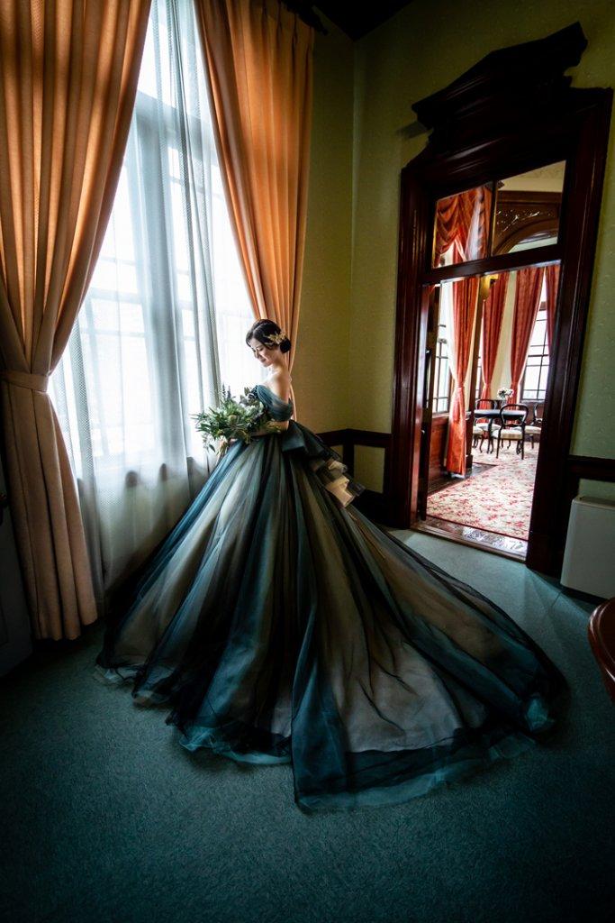 カラードレス ブラック 大人らしい 福岡貴賓館