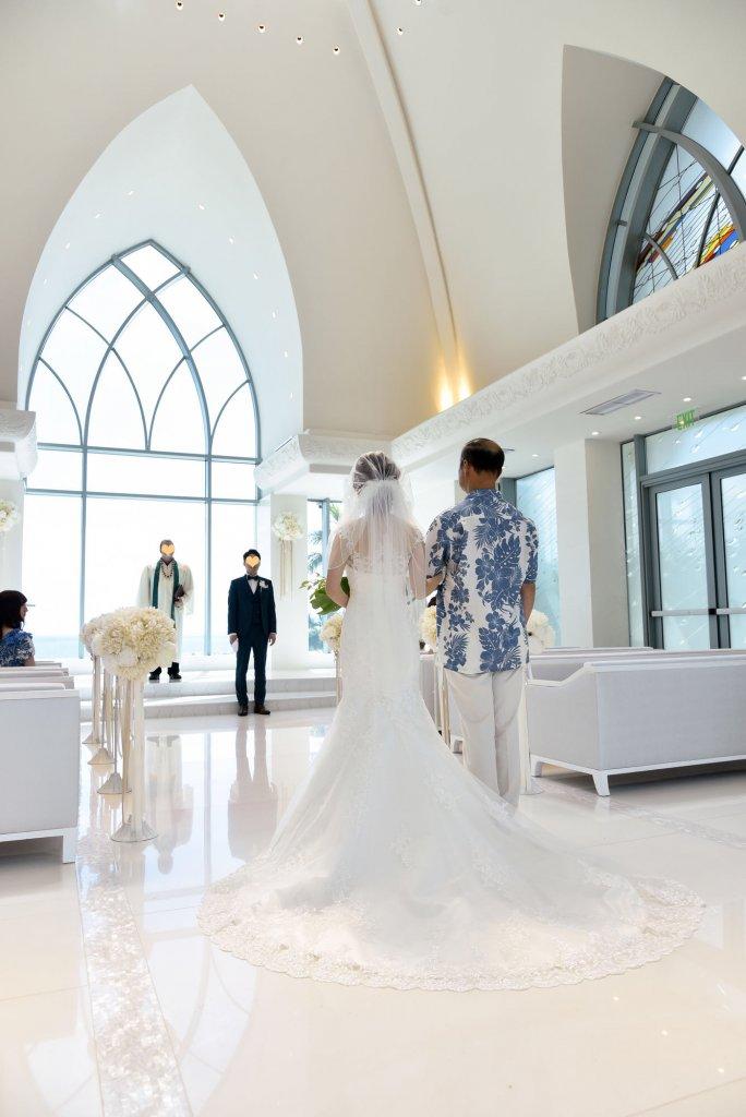 ハワイ(コオリナチャペル プレイス オブ ジョイ) 結婚式 マーメイドウェディングドレス