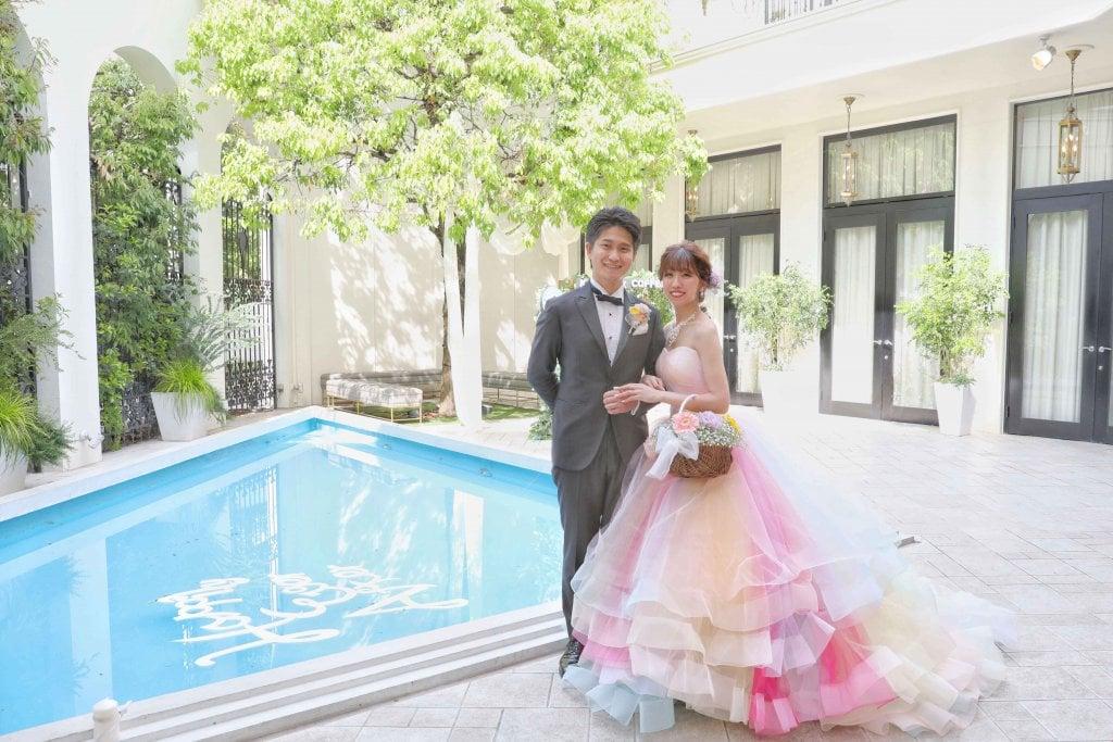 アーフェリーク白金 結婚式披露宴 カラードレス レインボードレス