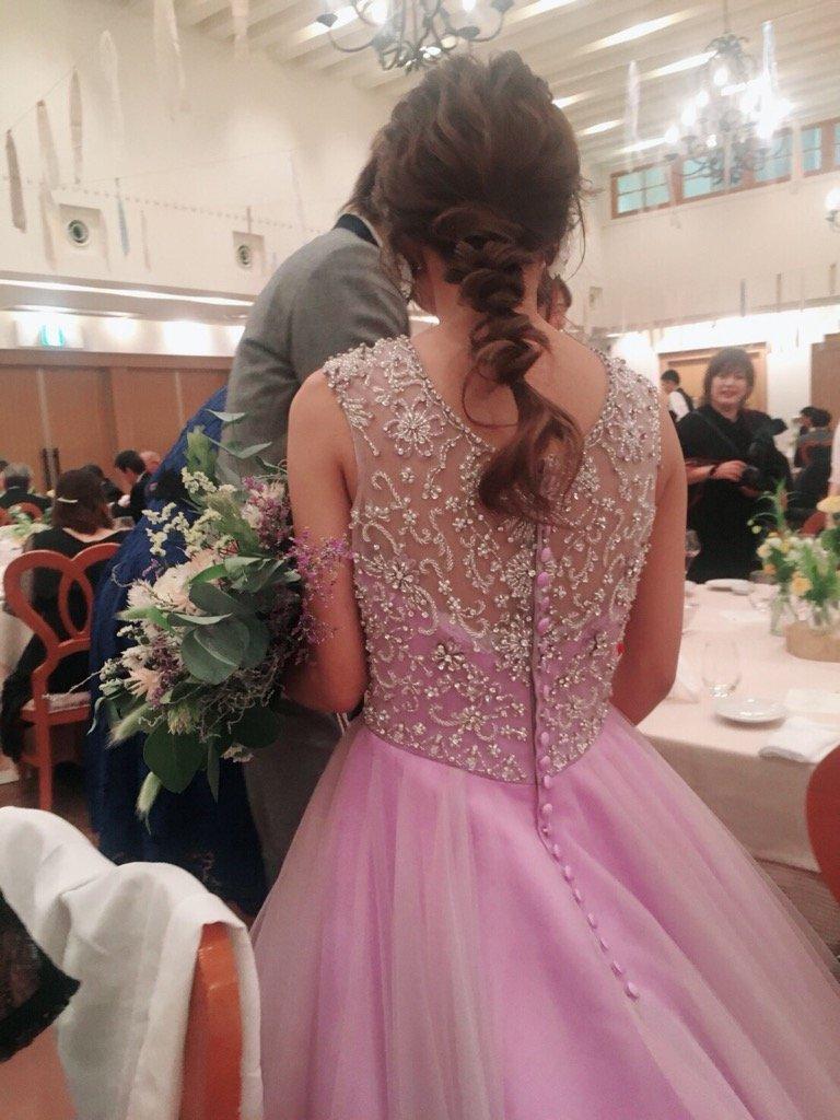 ヴィラデマリアージュ宇都宮 結婚式 カラードレス ピンク