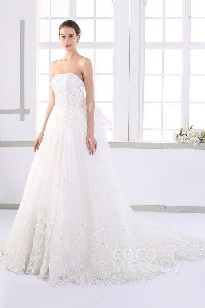 JWLT15016 オーガンジー ビスチェ ウエディングドレス