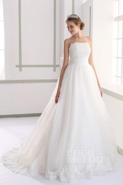 LH189 オーガンジー ビスチェ ウエディングドレス