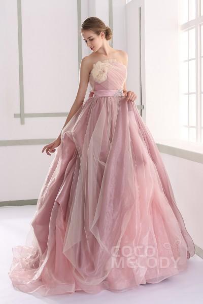 JUL015002 サッシュベルト ピンク カラードレス
