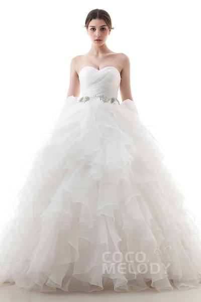 LD3647 オーガンジー ハートネック ウエディングドレス